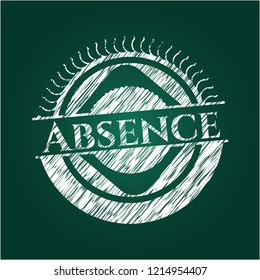 Absence written with chalkboard texture