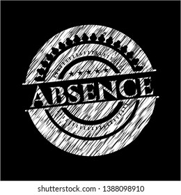 Absence written with chalkboard texture. Vector Illustration. Detailed.