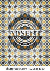 Absent arabesque emblem. arabic decoration.