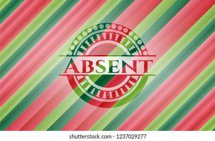 Absent christmas badge.