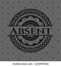 Absent dark emblem. Retro