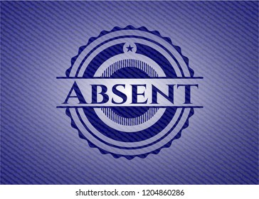Absent emblem with jean texture