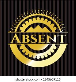 Absent gold shiny emblem