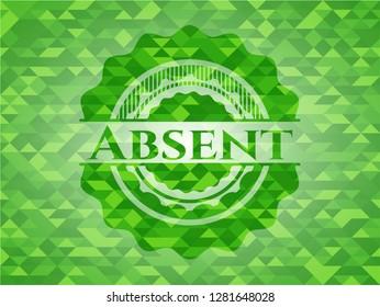 Absent green mosaic emblem