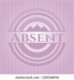 Absent pink emblem