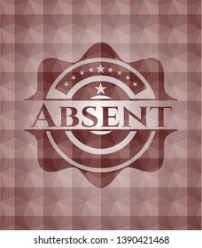 Absent red seamless geometric emblem.