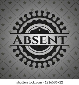 Absent retro style black emblem