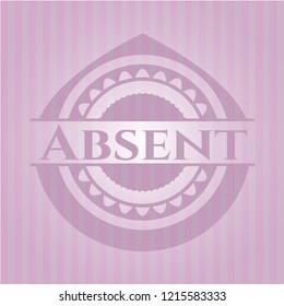Absent retro style pink emblem