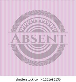 Absent vintage pink emblem
