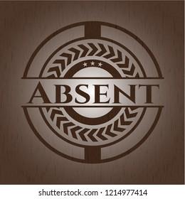 Absent wood emblem