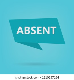 absent word on a sticker- vector illustration