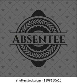 Absentee black emblem. Vintage.