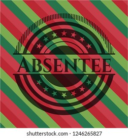 Absentee christmas style emblem.