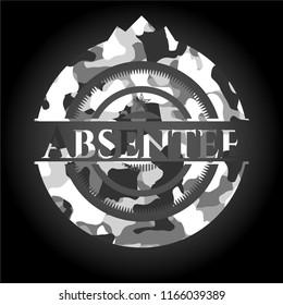 Absentee grey camo emblem