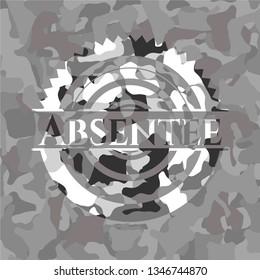 Absentee grey camouflage emblem