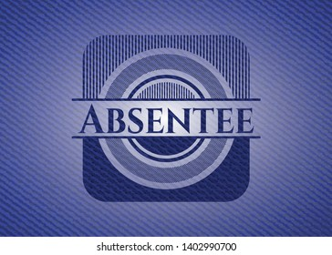 Absentee jean background. Vector Illustration. Detailed.