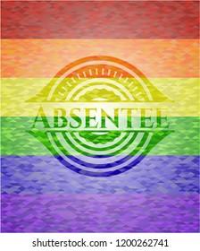 Absentee lgbt colors emblem