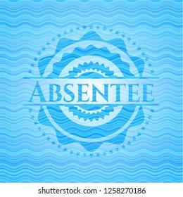 Absentee light blue water style emblem.