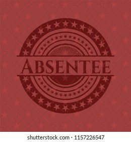 Absentee realistic red emblem