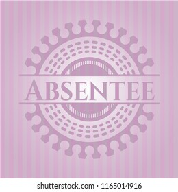 Absentee retro pink emblem