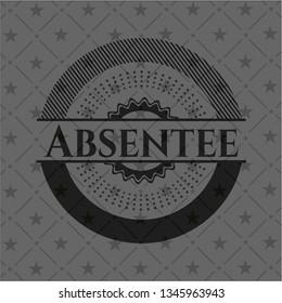 Absentee retro style black emblem