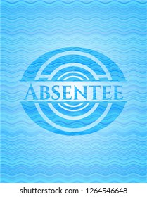Absentee water wave style emblem.