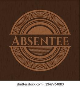 Absentee wood emblem. Retro