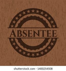 Absentee wood emblem. Vintage. Vector Illustration.