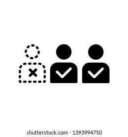 absentees icon, illustration vector template