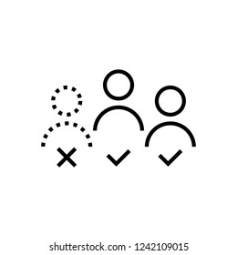 absentees icon, vector illustration