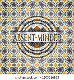 Absent-minded arabesque badge. arabic decoration.