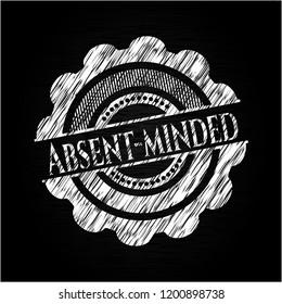Absent-minded chalk emblem written on a blackboard