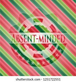 Absent-minded christmas emblem.