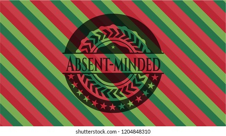 Absent-minded christmas style badge..