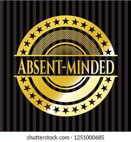 Absent-minded golden emblem