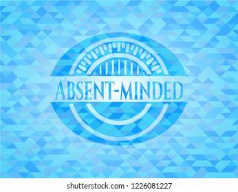 Absent-minded light blue mosaic emblem