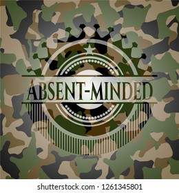Absent-minded on camo texture