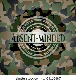 Absent-minded on camo texture. Vector Illustration. Detailed.