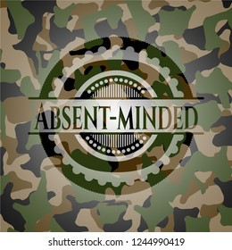 Absent-minded on camouflage texture