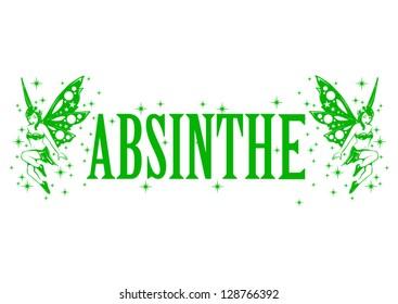 Absinthe-grünes Märchenvektorbild