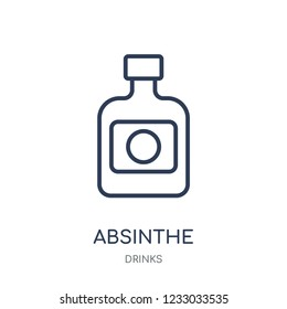 Absinthe icon. Absinthe linear symbol design from drinks collection. Simple outline element vector illustration on white background