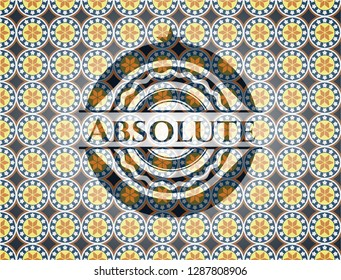 Absolute arabic emblem. Arabesque decoration.