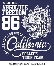 Absolute Freedom tiger vector art