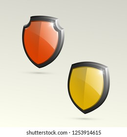 Absolute protection guard shield concept. Safety vector badge abstract protection icon Privacy banner shield. Security label sign. Defense tag presentation sticker shield. Defense safeguard sign badge