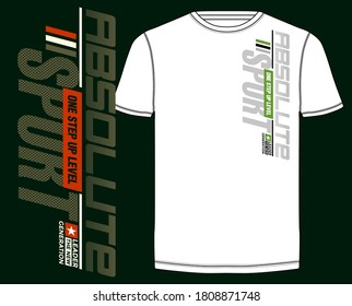 Absolute sport, modern and  stylish typography slogan for t-shirt. Abstract design with the lines style. Vector print, typography, poster. Global swatches.