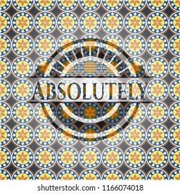 Absolutely arabesque style emblem. arabic decoration.