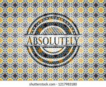 Absolutely arabic emblem. Arabesque decoration.