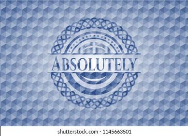 Absolutely blue polygonal emblem.