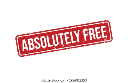 Absolutely Free Rubber Grunge Stamp Seal Stock Vector
