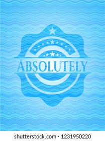 Absolutely water wave representation emblem background.